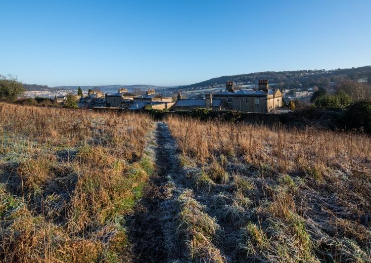 Frosty path across the East Field - Photo: Matt Roberts
