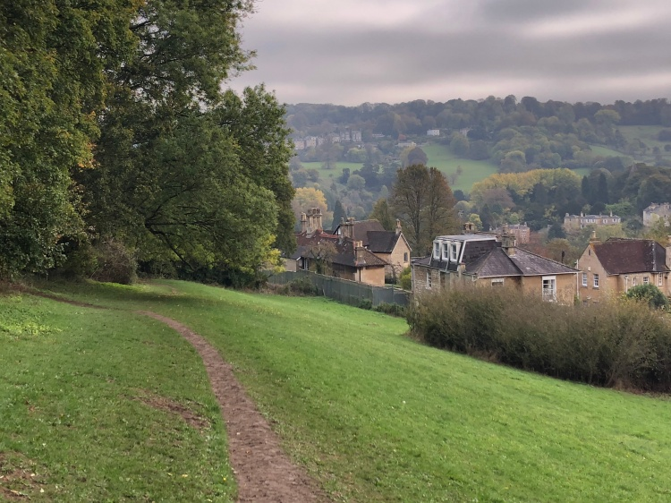 The path from the school fields